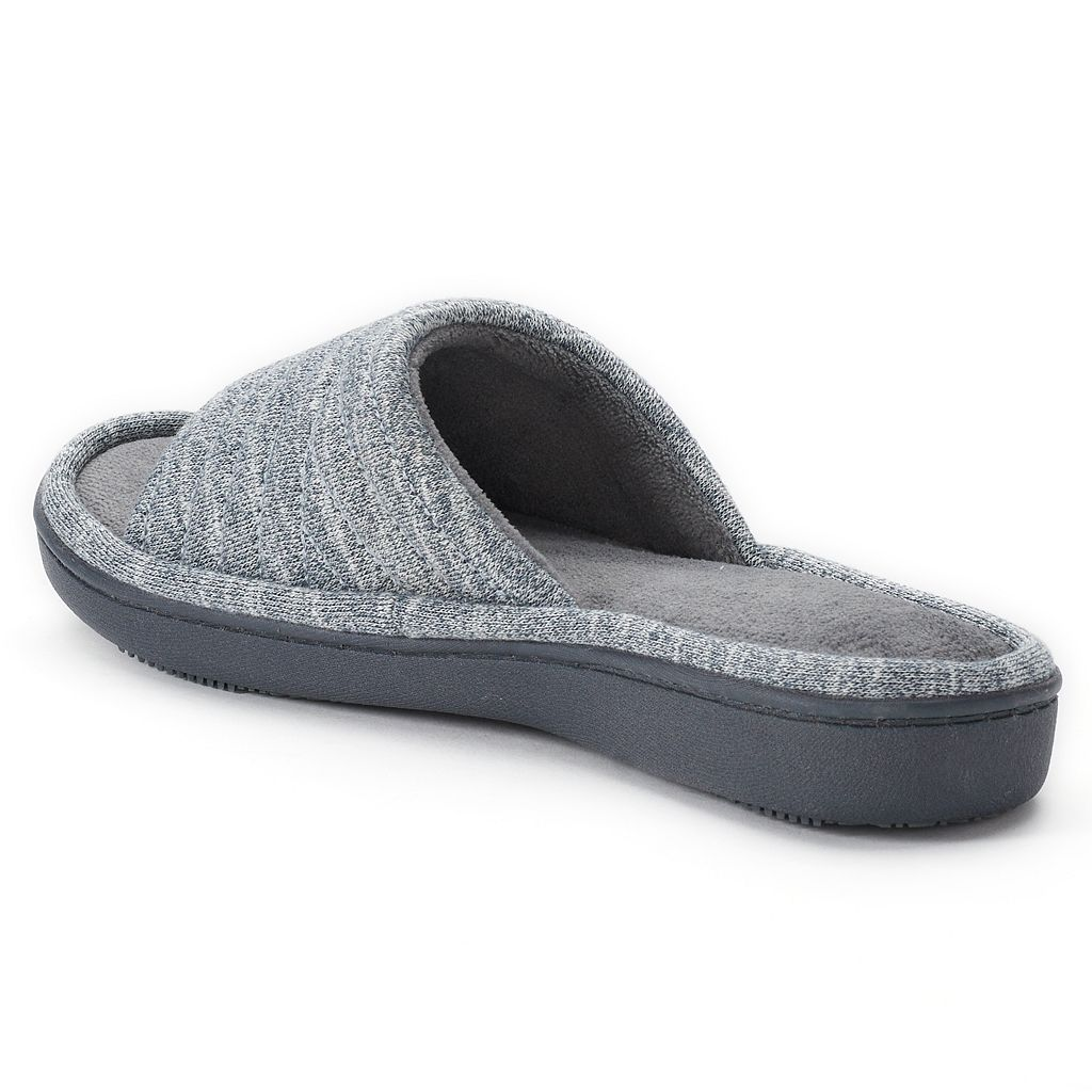 isotoner Women's Andrea Space Knit Slide Slippers