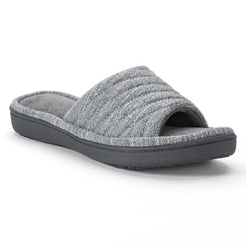 2f401c6ffa31fc isotoner Women's Andrea Space Knit Slide Slippers