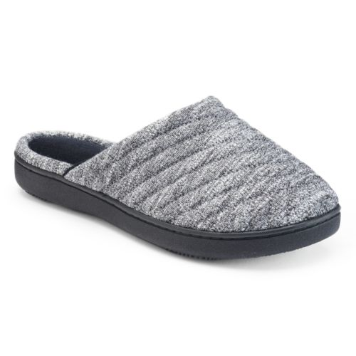 isotoner Women's Andrea Space ... Knit Clog Slippers