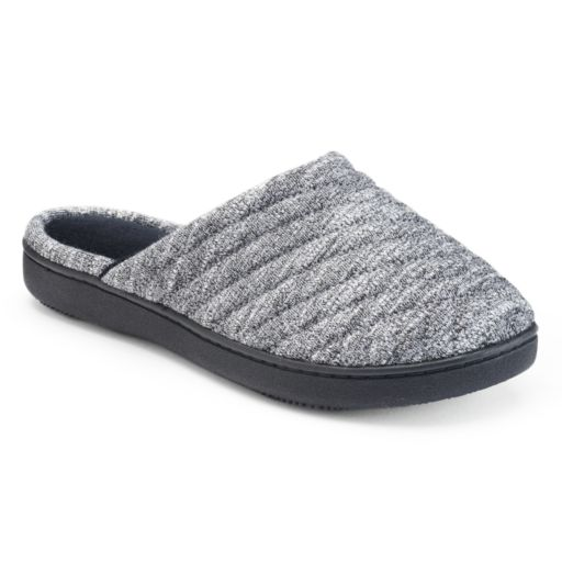 isotoner Women's Andrea Space Knit Clog Slippers