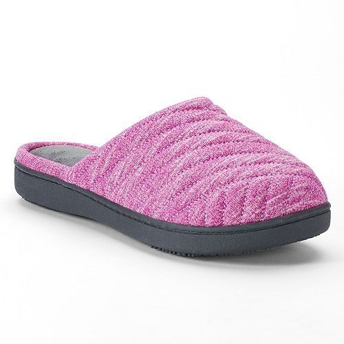 4c56848f0 isotoner Women s Andrea Space Knit Clog Slippers
