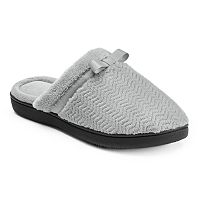 Isotoner Women's Chevron Clog Slippers