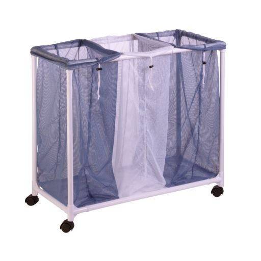 Honey-Can-Do 3-Bag Mesh Laundry Sorter