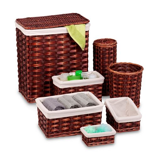 Honey-Can-Do 7-piece Wicker Hamper Set