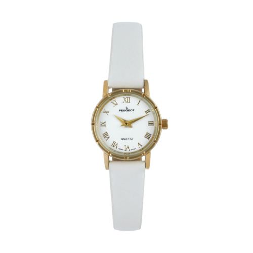 Peugeot Women's White Leather Watch - 3051WT