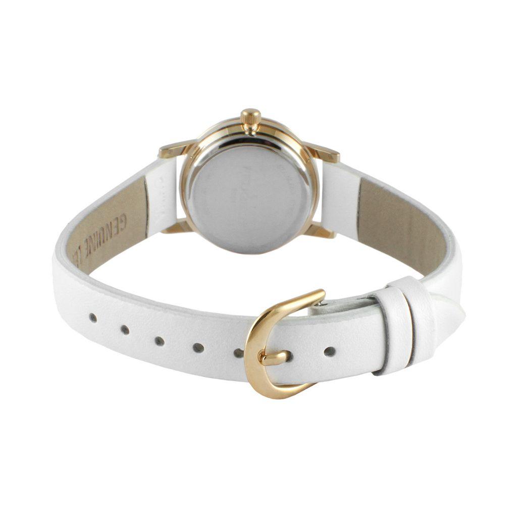 Peugeot Women's White Leather Watch - 3051WT