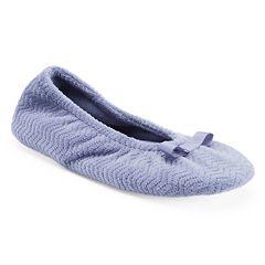 259375ce2273 isotoner Women's Chevron Ballet Slippers
