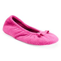 Isotoner Women's Chevron Ballet Slippers