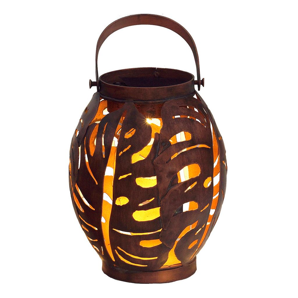 SONOMA Goods for Life™ Small Outdoor Solar Palm Leaf Lantern