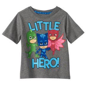 """Toddler Boy PJ Masks Gekko, Catboy & Owlette """"Little Hero"""" Graphic Tee"""