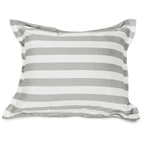 Majestic Home Goods Vertical Stripe Indoor / Outdoor Floor Throw Pillow