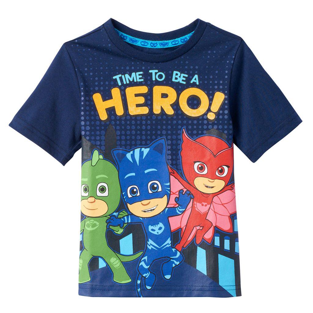 Toddler Boy PJ Masks Gekko, Catboy & Owlette Large Graphic Tee