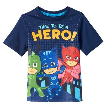 Toddler Boy PJ Masks Gekko, Catboy & Owlette Large Graphic Tee