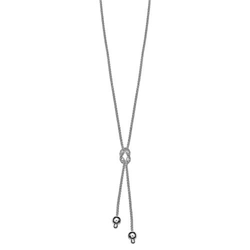 Sterling Silver Popcorn Chain Lariat Necklace