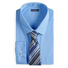 Men's Croft & Barrow® Classic-Fit Dress Shirt and Patterned Tie Boxed Set