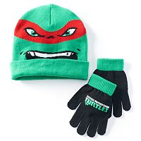 Boys Teenage Mutant Ninja Turtles Hat & Gloves Set