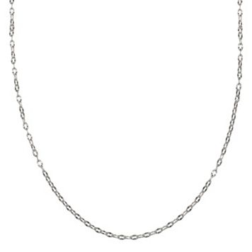 Sterling Silver Cable Chain Necklace - 24 in.