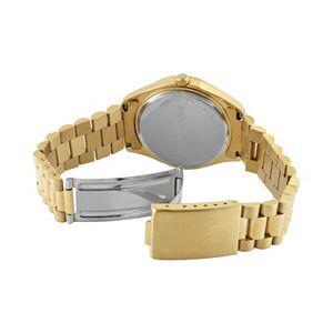 Peugeot Men's Diamond Stainless Steel Watch