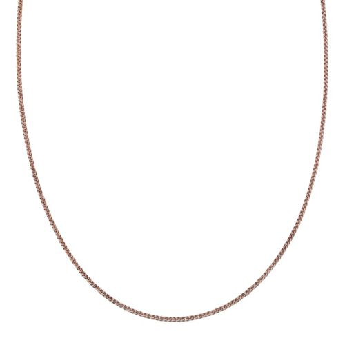Two Tone Sterling Silver Wheat Chain Necklace – 16 in.