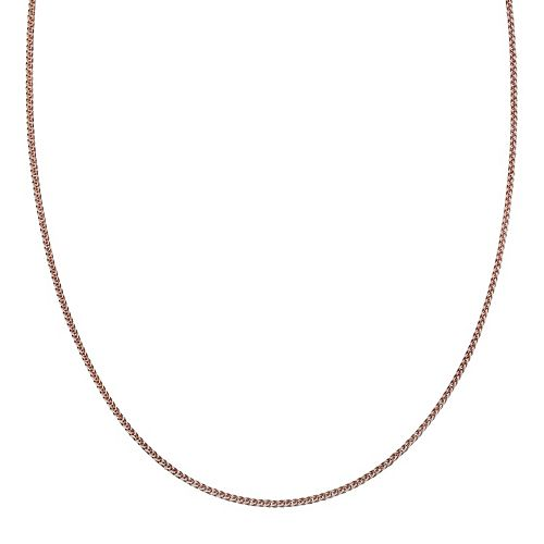 Two Tone Sterling Silver Wheat Chain Necklace - 18 in.
