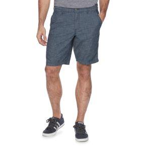 Men's Marc Anthony Slim-Fit Crosshatch Chambray Shorts
