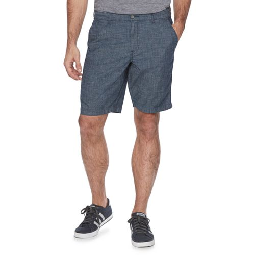Men's Marc Anthony Slim-Fit Crosshatch Chambray Shorts