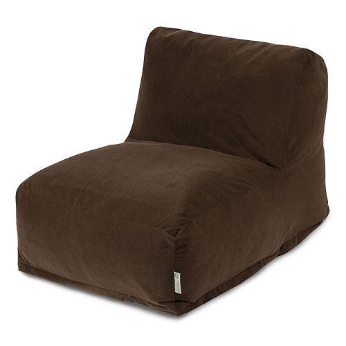 Majestic Home Goods Velvet Beanbag Chair Lounger