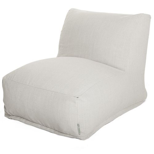 Majestic Home Goods Faux Sherpa Sheepskin Beanbag Chair Lounger