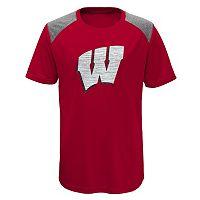 Boys 8-20 Wisconsin Badgers Ellipse Performance Tee