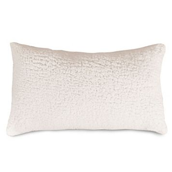 Majestic Home Goods Faux Sherpa Sheepskin Oblong Throw Pillow