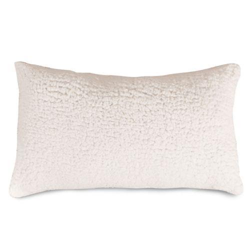 Majestic Home Goods Faux Sherpa Sheepskin Oblong Throw Pillow