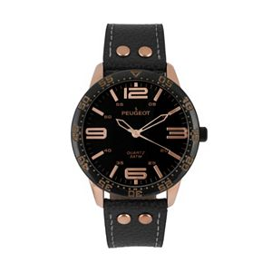 Peugeot Men's Sport Leather Watch