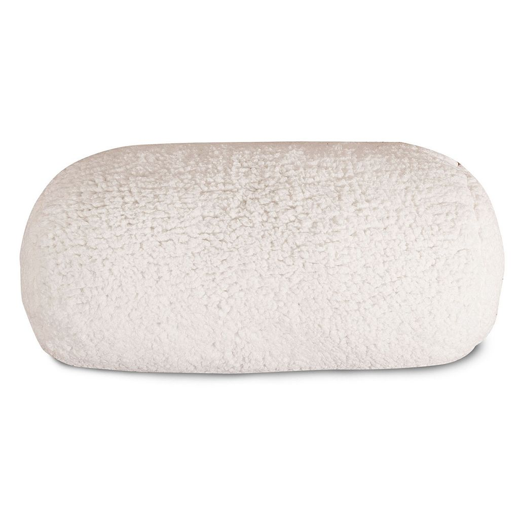 Majestic Home Goods Faux Sherpa Sheepskin Round Bolster Pillow