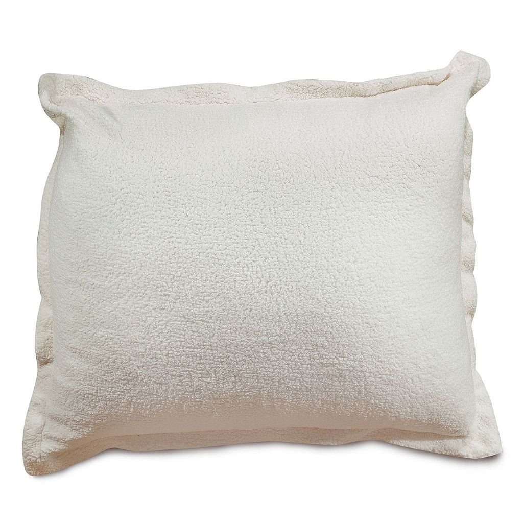 Majestic Home Goods Faux Sherpa Sheepskin Floor Throw Pillow