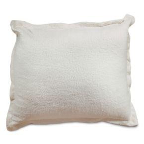 Majestic Home Goods Faux Sherpa Sheepskin Floor Throw Pillow