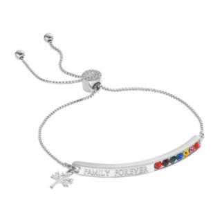 "Brilliance ""Family Forever"" Lariat Bracelet with Swarovski Crystals"