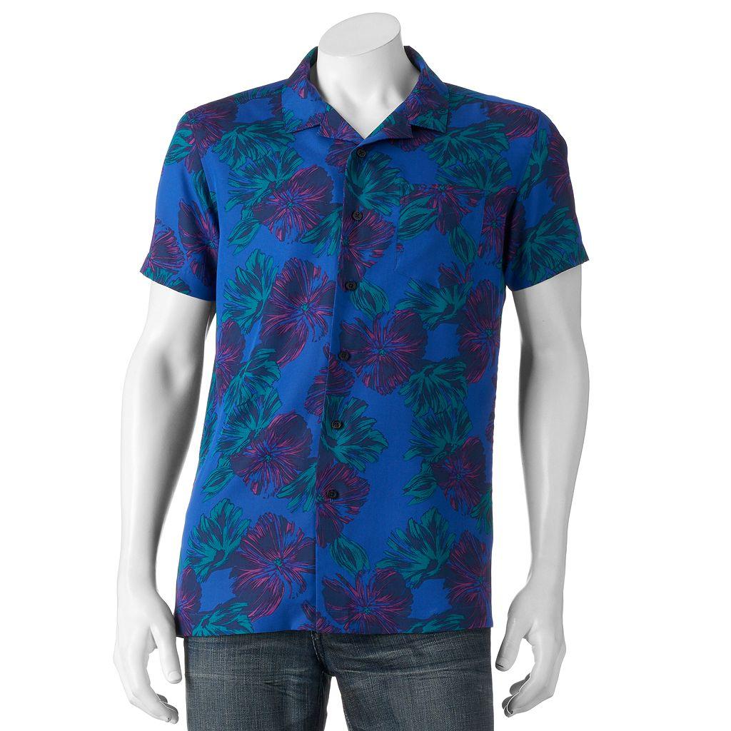 Men's Marc Anthony Slim-Fit Tropical Button-Down Shirt