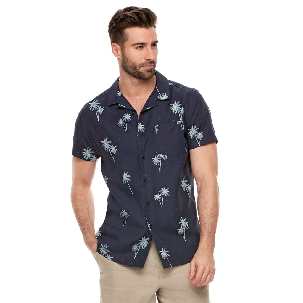 Men's Marc Anthony Slim-Fit Tropical Button-Down Shirt