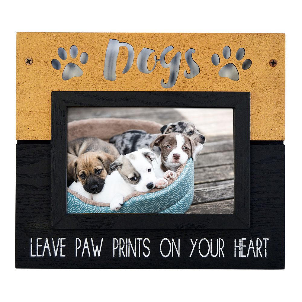 New View Dogs Leave Paw Prints Frame