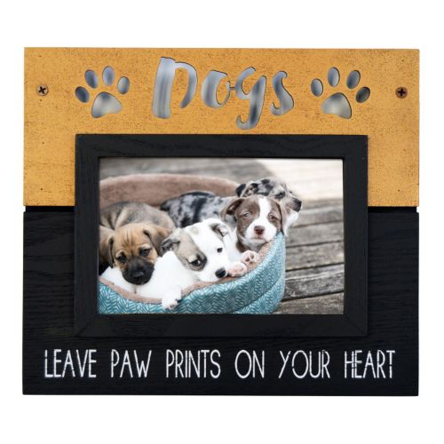 """New View """"Dogs Leave Paw Prints"""" Frame"""