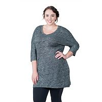 Plus Size Soybu Rosa Tunic Dress