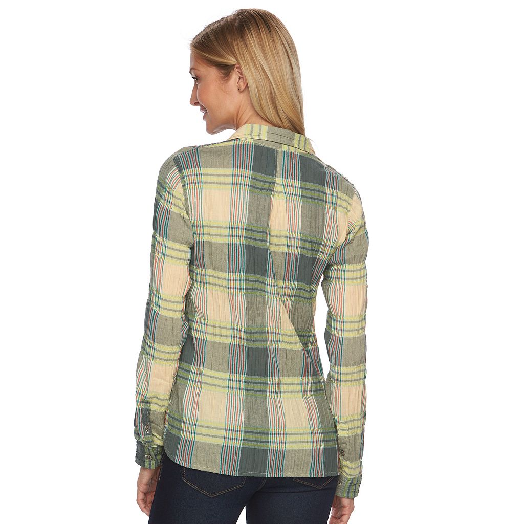 Women's Woolrich Carabelle Plaid Crinkle Shirt