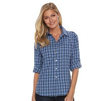 Women's Woolrich Tall Pine Plaid Seersucker Shirt