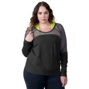 Plus Size Soybu Suzette Dolman Raglan Yoga Top