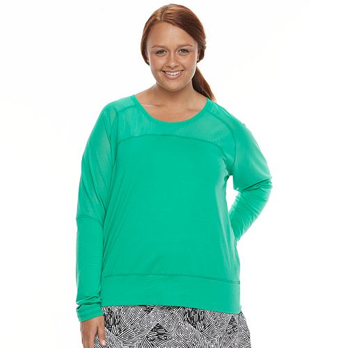 Plus Size Soybu Suzette Dolman Raglan Yoga Top