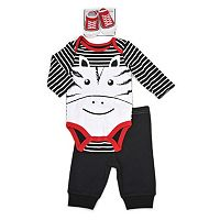 Baby Boy Vitamins Baby Graphic Bodysuit, Pants & Socks Set