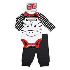 Baby Boy Vitamins Baby Graphic Bodysuit, Pants & Socks Set