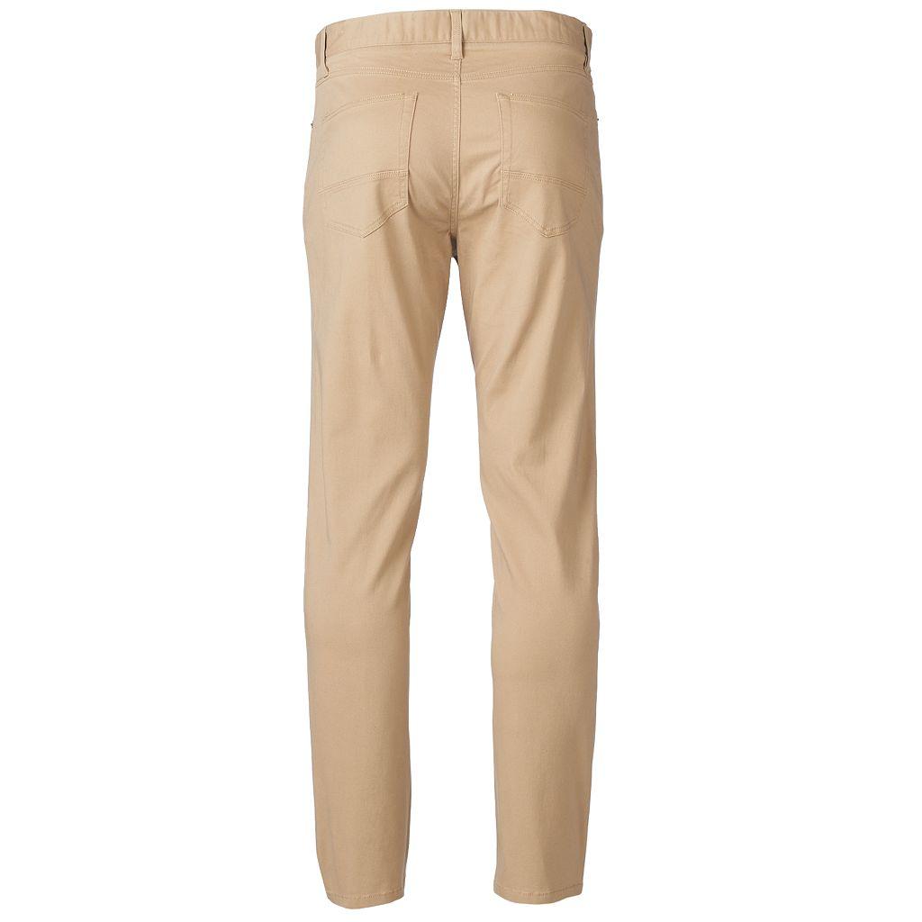 Men's PLUGG 5-Pocket Stretch Twill COMFORT FLEX Waistband Pants