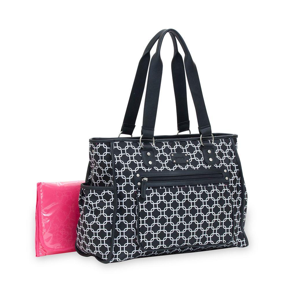 Carter's City Tote Geometric Diaper Bag