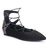Jennifer Lopez Women's Ghillie Pointed-Toe Flats